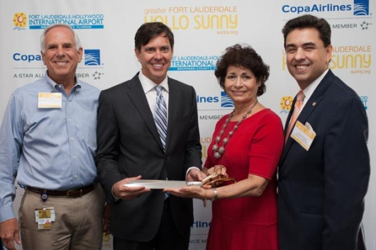 Fort Lauderdale Tourism and Business Officials Welcome Copa Airlines Executives.