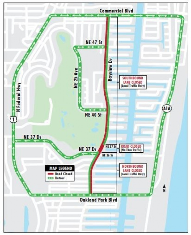 Traffic Advisory: Construction on Bayview Drive for Planned Improvements