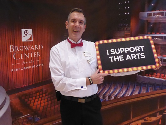 Broward Center Volunteer Usher Kurt Liphardt.
