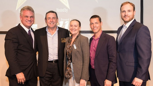 Bob Birdsong, President/CEO of OK Generators; John Benz, President/CEO of Community Care Plan; Sheila Smith, President/CEO of 2-1-1 Broward; Mike Wild, Wild, Felice & Partners, P.A.; Gavin Gaukroger, Chair of 2-1-1 Broward