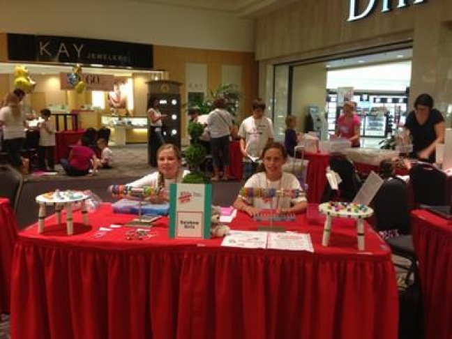 Kids show off their retail skills during Kids, Inc. at The Galleria at Fort Lauderdale.