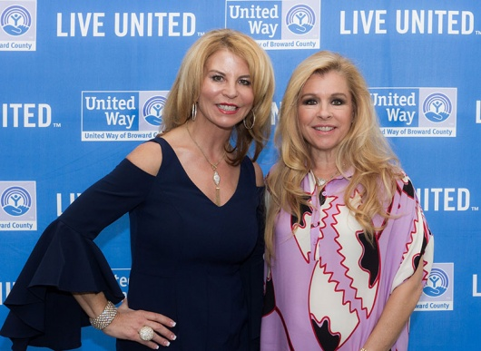 Kathleen Cannon, President/CEO of United Way of Broward County; and Leigh Anne Tuohy, Keynote Speaker of The 7th Annual Magnolia Luncheon